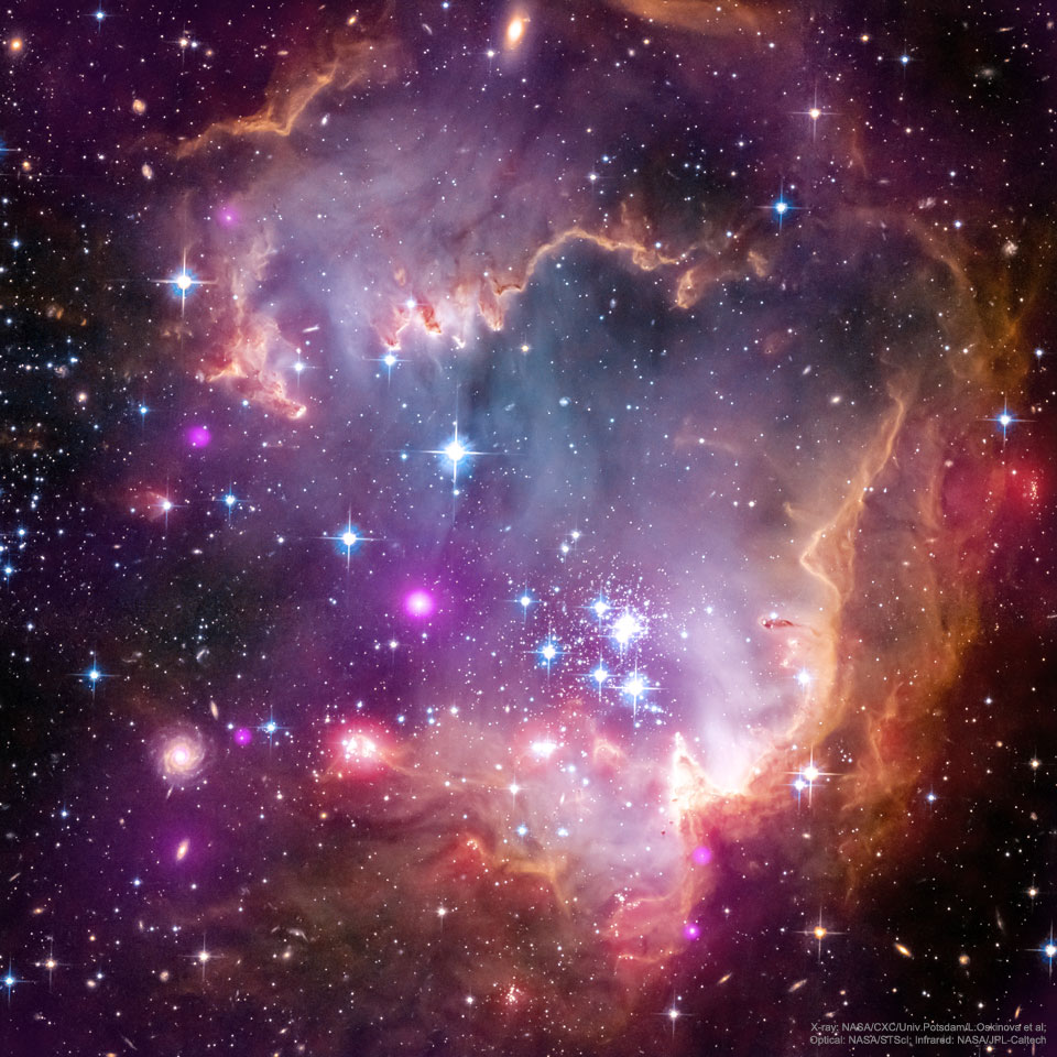ngc602_ChandraHubbleSpitzer_960